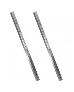 Stainless Steel Uprights Set of Two, Leg Mounted, Single Sided Slots.