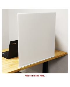 Sliding Sneeze-Guard White ABS